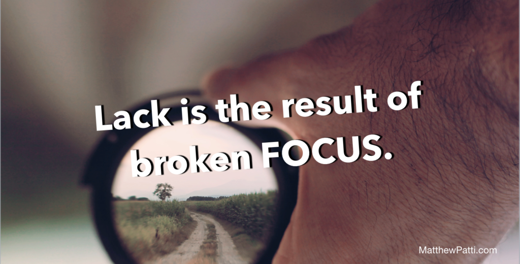 Lack is the result of broken FOCUS